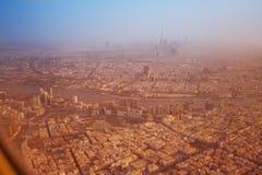 Dubaï de négligence par la fenêtre d'avions Photos libres de droits