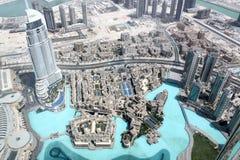 Dubaï du vol de l'oiseau Photographie stock libre de droits