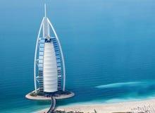 Dubaï, EAU. Burj Al Arab d'en haut Photographie stock libre de droits