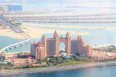 Dubaï, EAU. Hôtel de l'Atlantide d'en haut Photo libre de droits