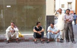 Dubaï, EAU - 16 juillet 2016 : Portrait de rue d'un résident à Dubaï Image stock