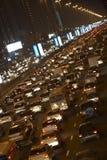 Dubaï, encombrement la nuit image libre de droits