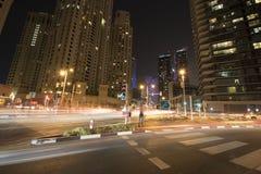Dubaï la nuit Photo stock