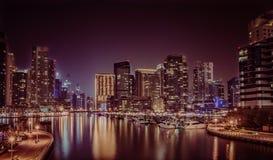 Dubaï Marina Lakeshore image stock