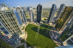 Dubaï Marina Panoramic View Photo libre de droits