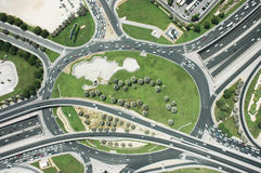 Dubaï - rond point photographie stock