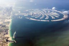Dubai- – Burj-Al Araber und die Palme Lizenzfreie Stockfotos