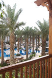 Dubai 01. An overall pool view from a balcony Royalty Free Stock Photography