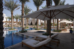 Dubai 06. A complete resort pool setting Royalty Free Stock Image