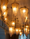 Dubai 10. A ceiling filled with Moroccan lanterns Stock Photo