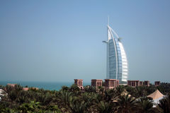 Dubai. A view of the only one seven star hotel in the world Stock Photography