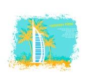Dubai. The Burj Al Arab Hotel in Dubai -  illustration Stock Image