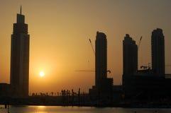 Dubai-Abend Lizenzfreies Stockfoto
