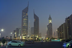 Dubai am Abend Lizenzfreie Stockfotografie