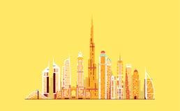 Dubai abstract skyline Royalty Free Stock Photography