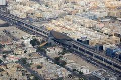 Dubai ADCB Metro station aerial view photography Stock Image