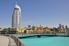 Dubai, Address Hotel. Address Hotel and Lake Burj Dubai Stock Images