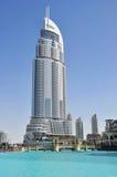 Dubai, Address Hotel. Address Hotel and Lake Burj Dubai Royalty Free Stock Photos