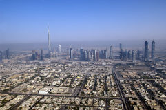 DUBAI Aerial view Stock Photo