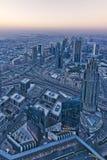 Dubai aerial view Stock Photos