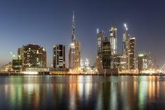 Dubai affärsfjärd Royaltyfria Bilder