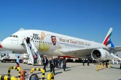 Dubai Airshow 2017: Airbus A-380 Fotos de Stock