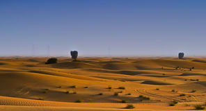 Dubai Al Qudra Desert. A view of Desert from Dubai Al Qudra Lakes stock photography