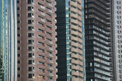 Dubai apartments. Row of high rise apartments in Dubai Stock Image