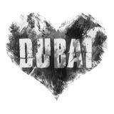Dubai art. Street graphic style, Dubai. Fashion stylish print. Template apparel, card, label, poster. emblem, t-shirt stamp Stock Photography