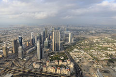 Dubai as seen from Burj Khalifa Royalty Free Stock Image