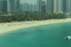 Dubai Atlantis Water Front. View from Mono Rail to Atlantis Hotel Dubai Royalty Free Stock Image