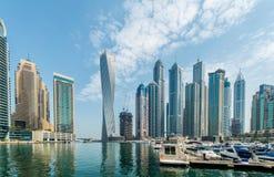 Dubai - AUGUST 9, 2014: Dubai Marina district on Stock Images