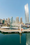 Dubai - AUGUST 9, 2014: Dubai Marina district on Stock Images