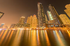 The dubai - august 9, 2014: dubai marina district Stock Image