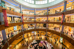 Dubai - AUGUST 7, 2014: Dubal Mall shopping mall Royalty Free Stock Image