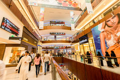 Dubai - AUGUST 7, 2014: Dubal Mall shopping mall. On August 7 in Dubai, UAE. Dubai is the center of trade in Middle East Stock Photography