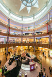 Dubai - AUGUST 7, 2014: Dubal Mall shopping mall. On August 7 in Dubai, UAE. Dubai is the center of trade in Middle East Royalty Free Stock Photography