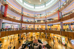 Dubai - AUGUST 7, 2014: Dubal Mall shopping mall. On August 7 in Dubai, UAE. Dubai is the center of trade in Middle East Royalty Free Stock Images