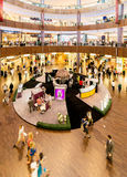 Dubai - AUGUST 7, 2014: Dubal Mall shopping mall. On August 7 in Dubai, UAE. Dubai is the center of trade in Middle East Royalty Free Stock Image
