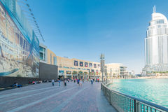 Dubai - AUGUST 7, 2014: Dubal Mall shopping mall Stock Photo