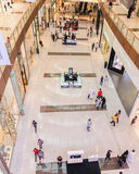 Dubai - AUGUST 7, 2014: Dubal Mall shopping mall. On August 7 in Dubai, UAE. Dubai is the center of trade in Middle East Royalty Free Stock Photos