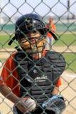 Dubai barnserien i basebollstoppare Arkivbilder
