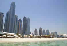 Dubai beach - the fastest growing city in the world Royalty Free Stock Image