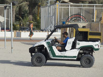 Dubai beach police stock images