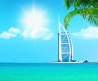 Dubai beach resort Stock Image