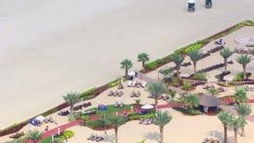 Dubai beach resort 4k time lapse stock footage