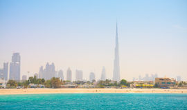 Dubai. Beautiful beach and sea Stock Images