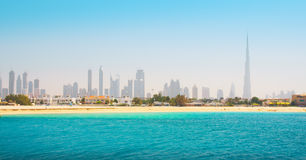 Dubai. Beautiful beach and sea Royalty Free Stock Photos
