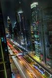 Dubai bis zum Nacht Lizenzfreies Stockfoto
