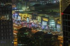 Dubai bis zum Nacht Lizenzfreies Stockbild